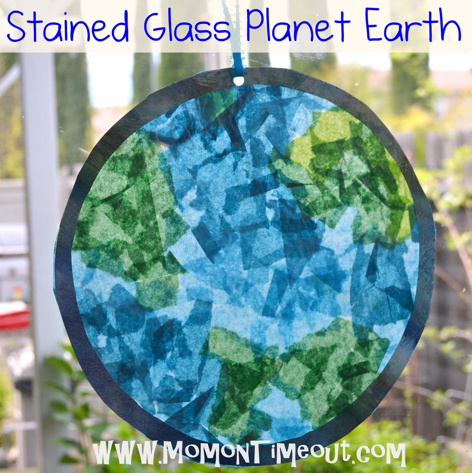 Preschool Crafts for Kids*: Earth Day Stained Glass Craft