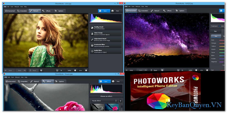 Download và hướng dẫn cài đặt AMS Software PhotoWorks 6 Full Key, Chỉnh sửa ảnh thông minh với vài Click chuột .
