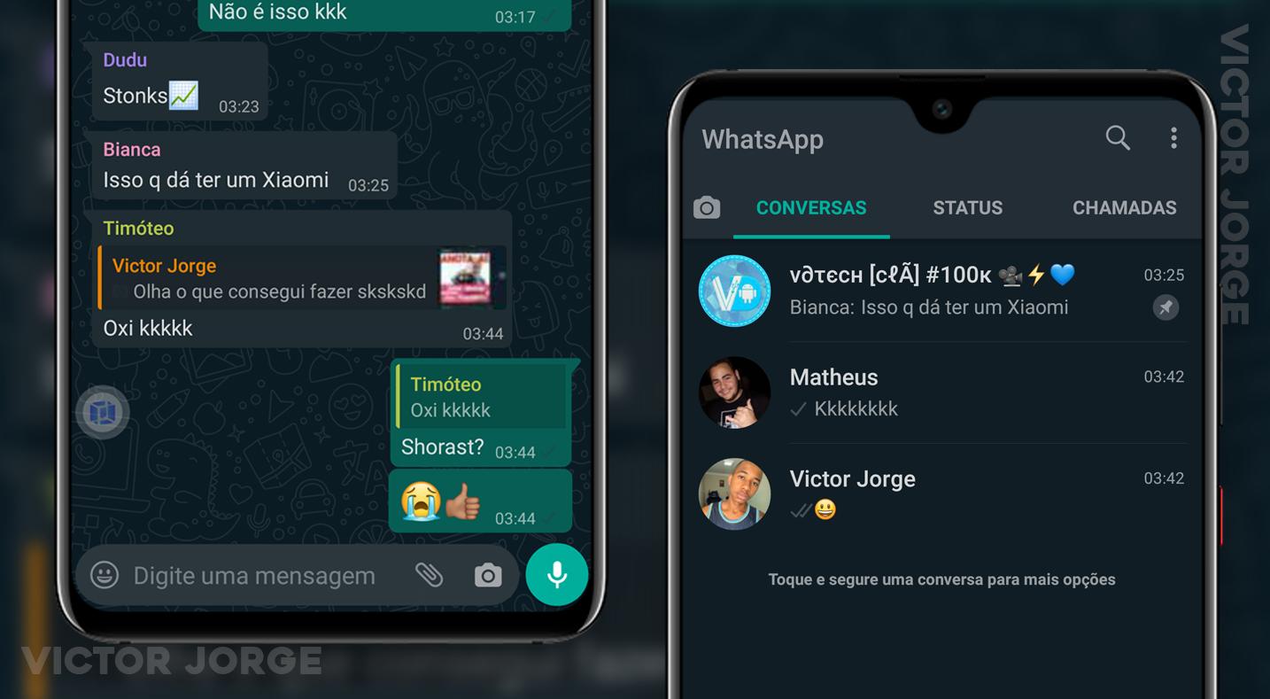 CHOREI!! 😭 Tema ESCURO Ativado no WhatsApp Beta (FUNCIONA MESMO😱) Finalmente!!