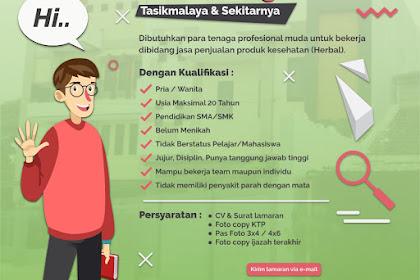 Lowongan Kerja Marketing Online Toko Acep Herbal, Gaji UMR Tasikmalaya