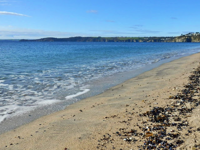 Beach and sea at Carlyon Bay, Cornwall