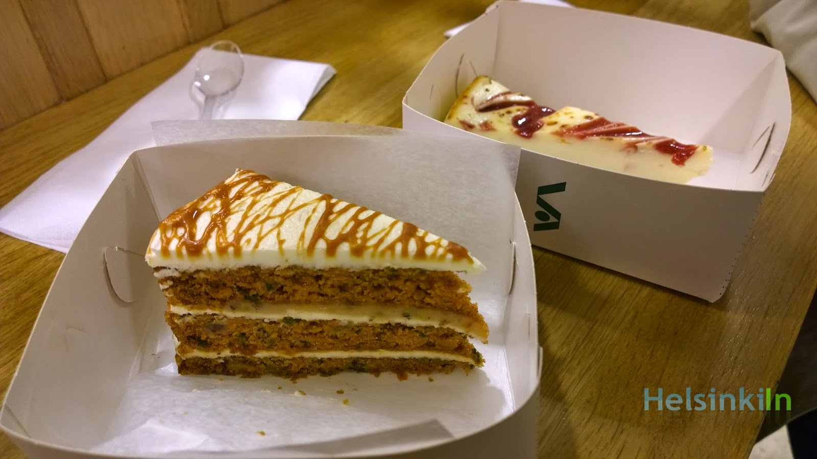 Delicious Cheesecake and Carrot Cake at Stockmann