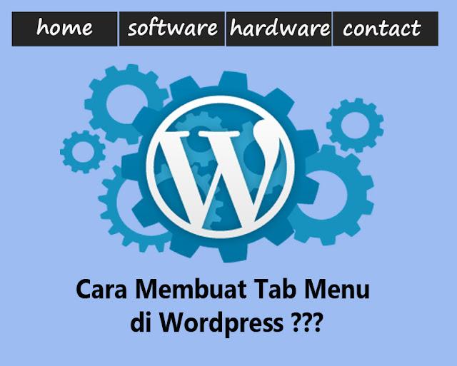 3 Cara Mudah Membuat Tab Menu di Wordpress