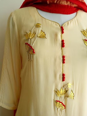 30 Stylish Potli Button Neck Designs For Kurtis And Salwar Suits Bling Sparkle