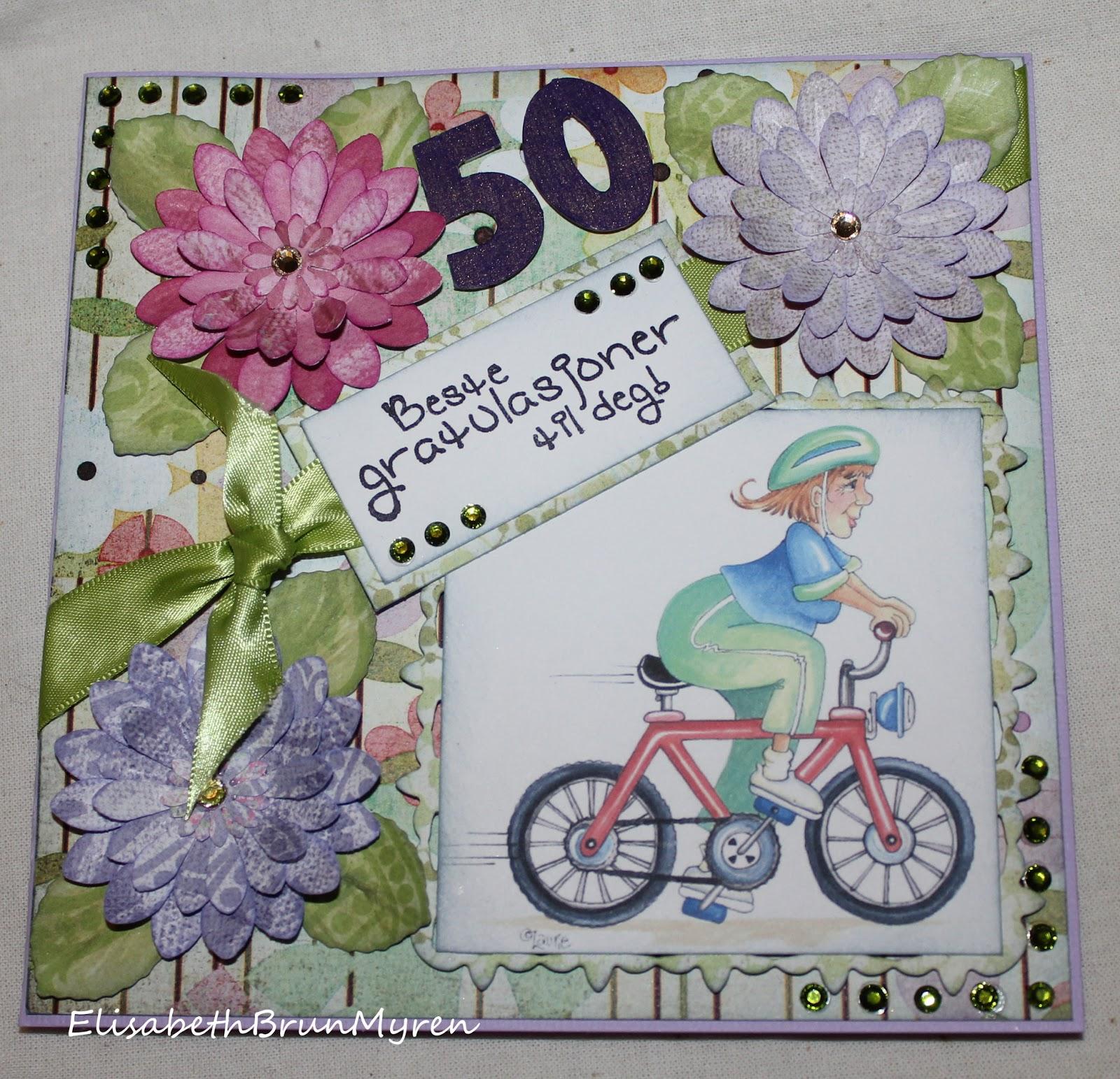 kort 50 år Elisabeths kort   laget med tid og omtanke kort 50 år