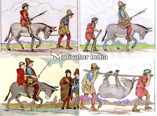 story of father son and donkey, story of man boy and donkey, boy man and donkey story in hindi, hindi, motivational story in hindi, best motivational story for student, motivational story for student in hindi, hindi motivational story, hindi inspirational story for student, motivational short story in hindi, short story for student