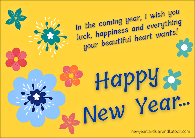 New year, Happy New Year, Card,