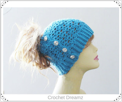 Crochet Messy Bun Hat : Crochet Dreamz: Ponytail or Messy Bun Hat Crochet Pattern, Free ...