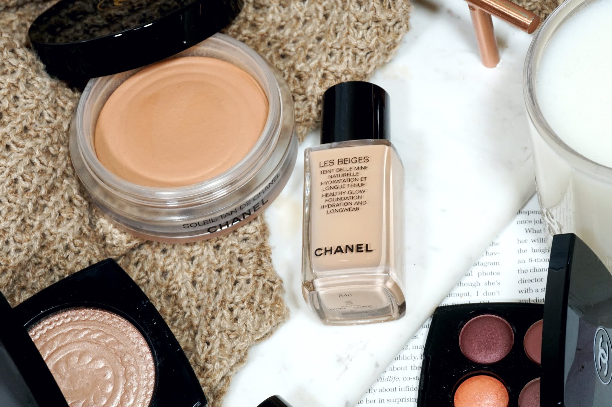 Chanel Les Beiges Healthy Glow Foundation Review and Swatches