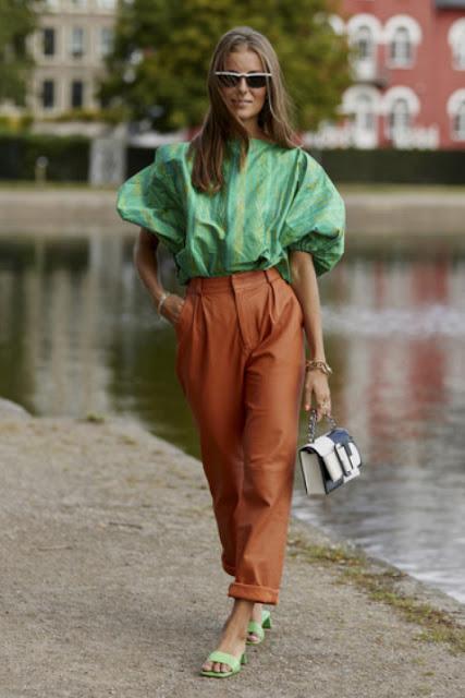Модные образы яркой одежды 6