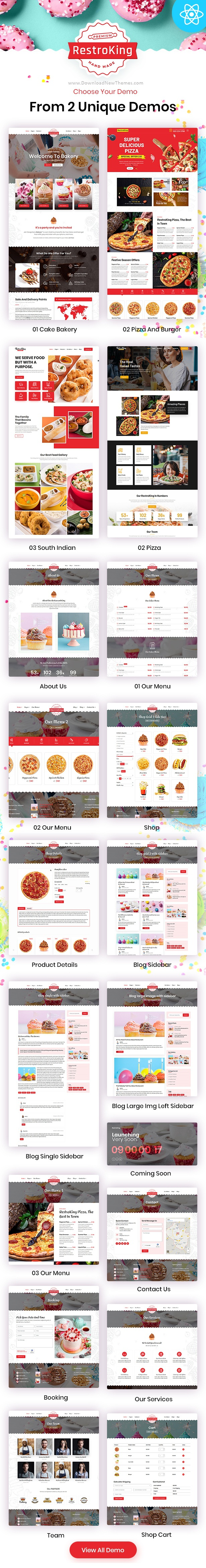 Cake Pizza and Bakery Bootstrap Template