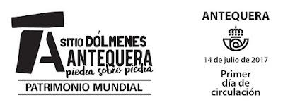 Filatelia - Patrimonio Mundial. Sitio Dólmenes de Antequera - Matasellos Primer día de circulación - 14/07/2017