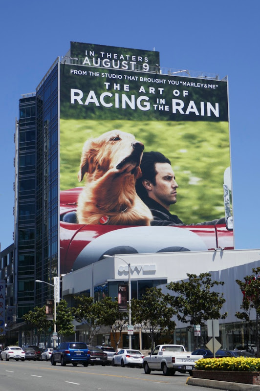Art of Racing in the Rain giant movie billboard