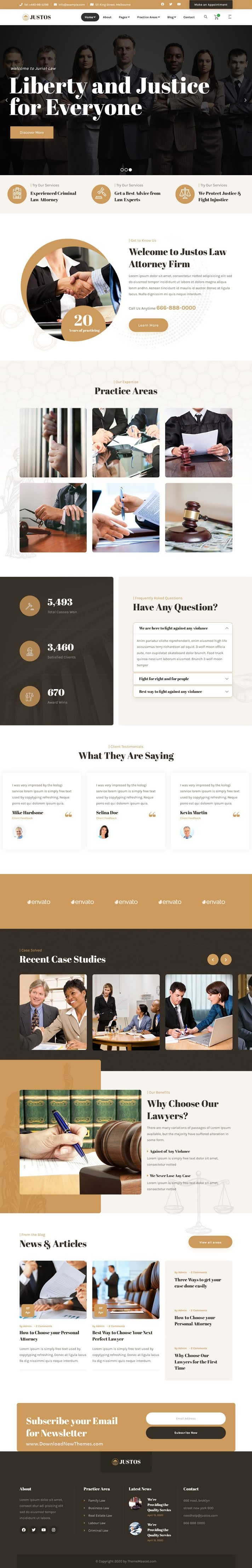 Attorney Lawyer HTML Template