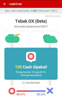 img 20160822 184830 Cara mudah mendapatkan pulsa gratis dari Cashtree Tebak OX (BETA)