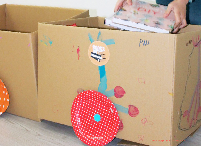 tren diy con cajas para mudanza de selfpackaging