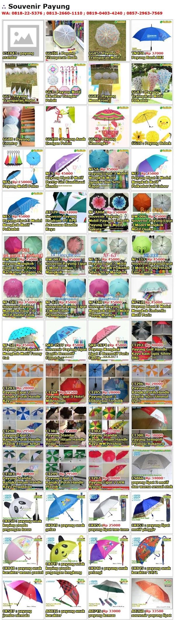 Daftar Harga Souvenir Payung