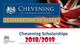 بشرى  منحة دراسية 2018/2019  جامعة  chevening البريطانية