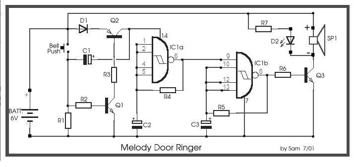melody door ringer circuit