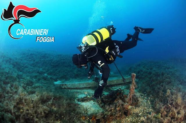 Isole Tremiti, i Carabinieri controllano i fondali a tutela dei Beni Archeologici