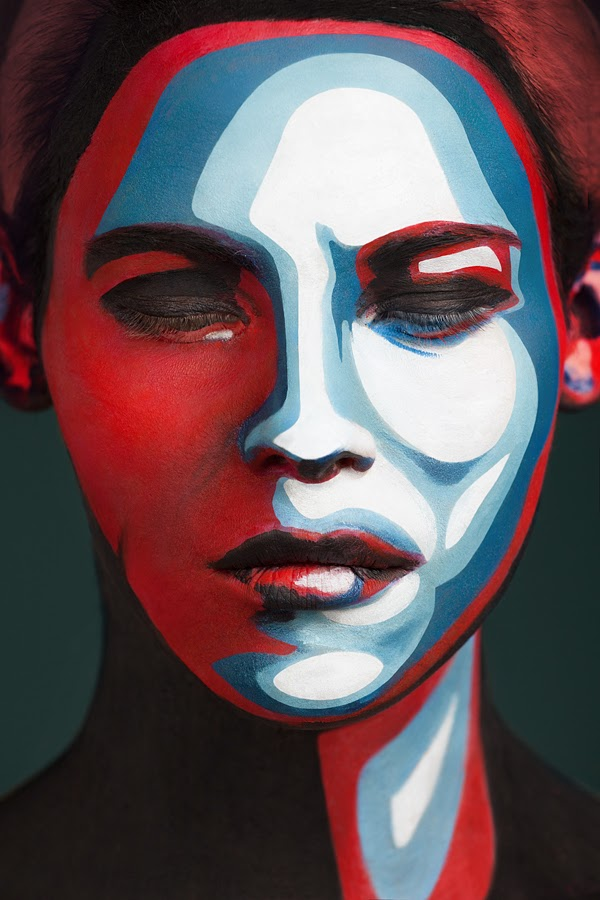 surreal painted faces