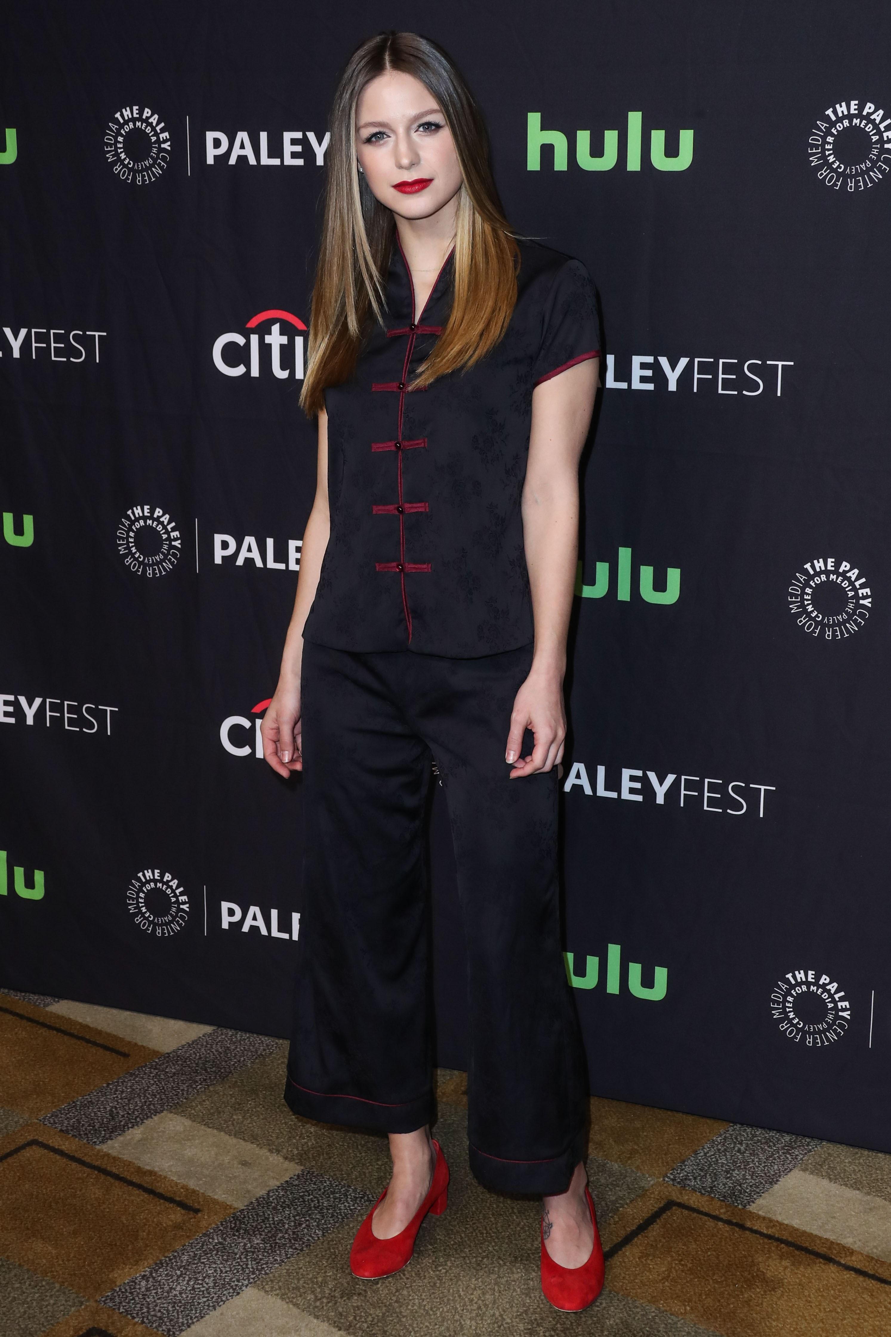 Supergirl Melissa Benoist appeared in promo event of Warner DC's hero drama