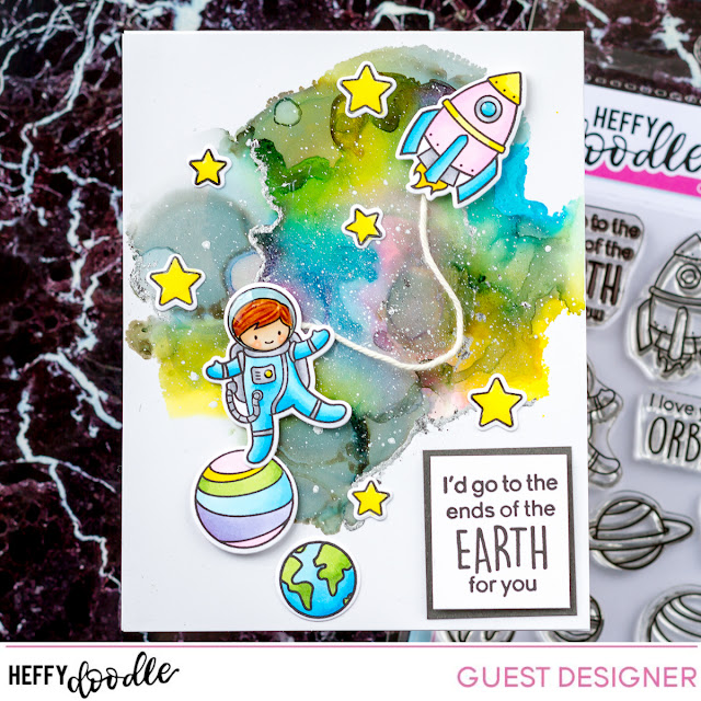 Reach for the Stars | Interactive Card | Heffy Doodle Stamps by ilovedoingallthingscrafty.com
