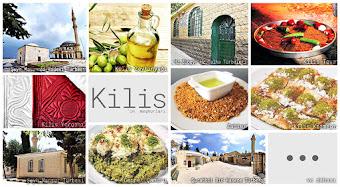 Kilis'in meşhur şeylerini gösteren resimlerden oluşan kolaj