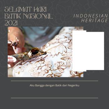 100 Bingkai Foto Twibbon Hari Batik Nasional 2 Oktober 2021