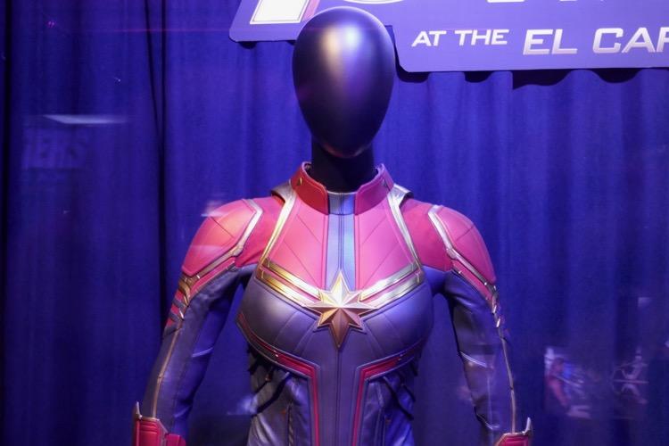 Captain Marvel costume detail Avengers Endgame