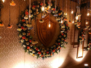 jute rustic  stage decorations