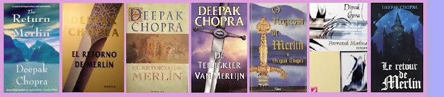portadas del libro El retorno de Merlín, de Deepak Chopra