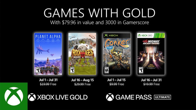 [Games with Gold]: Έτοιμα για λήψη τα δωρεάν παιχνίδια του Ιουλίου