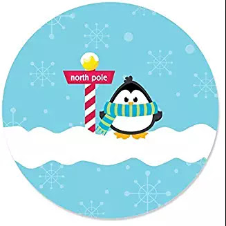 Holly Jolly Penguin Sticker #hollyjollychristmas #christmasmusic #learnyourchristmascarols #christmascards Available on Amazon