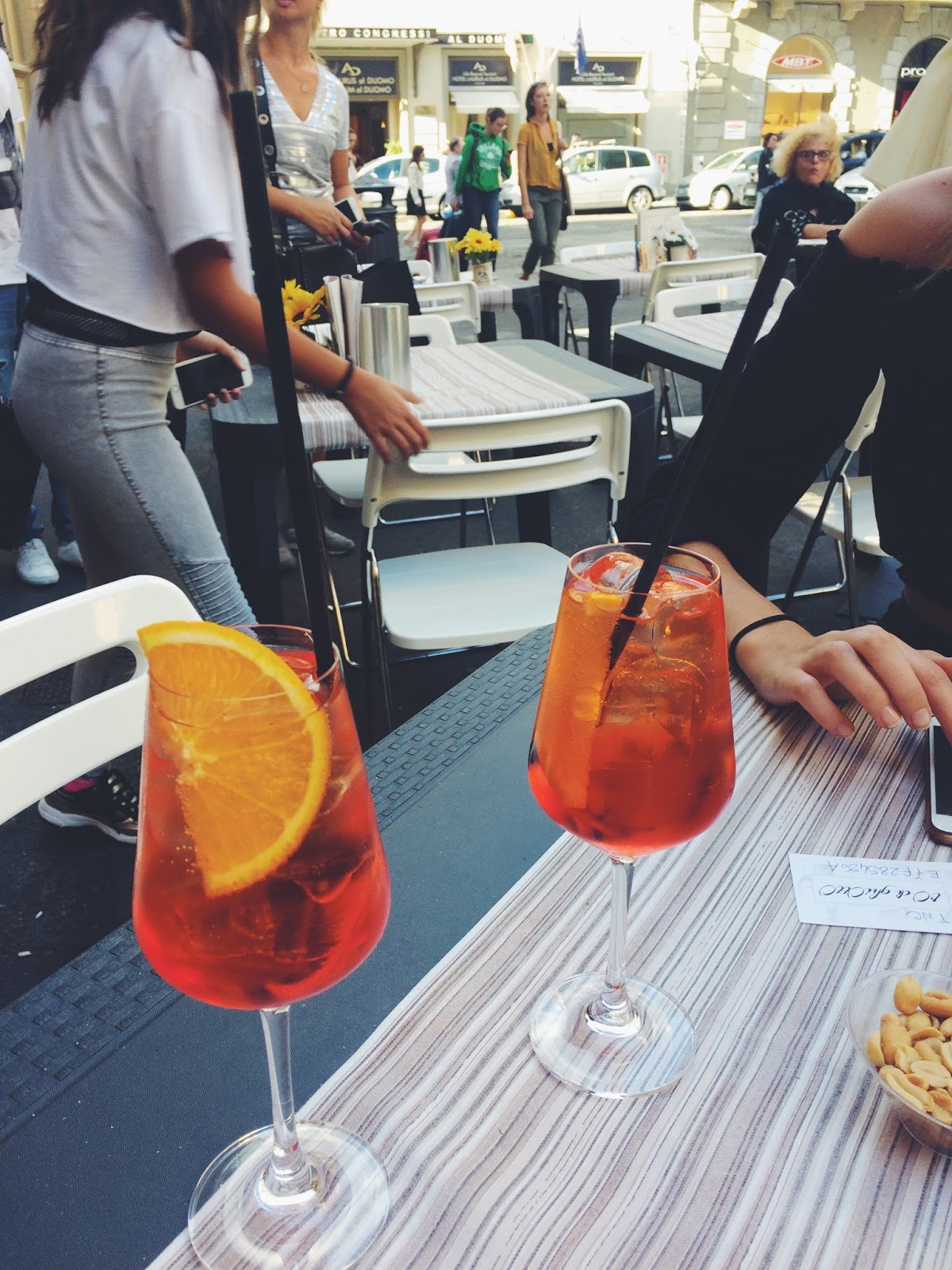 01947a4f1a63 For refreshing ourselves 2 glasses of Aperol Spritz ♥
