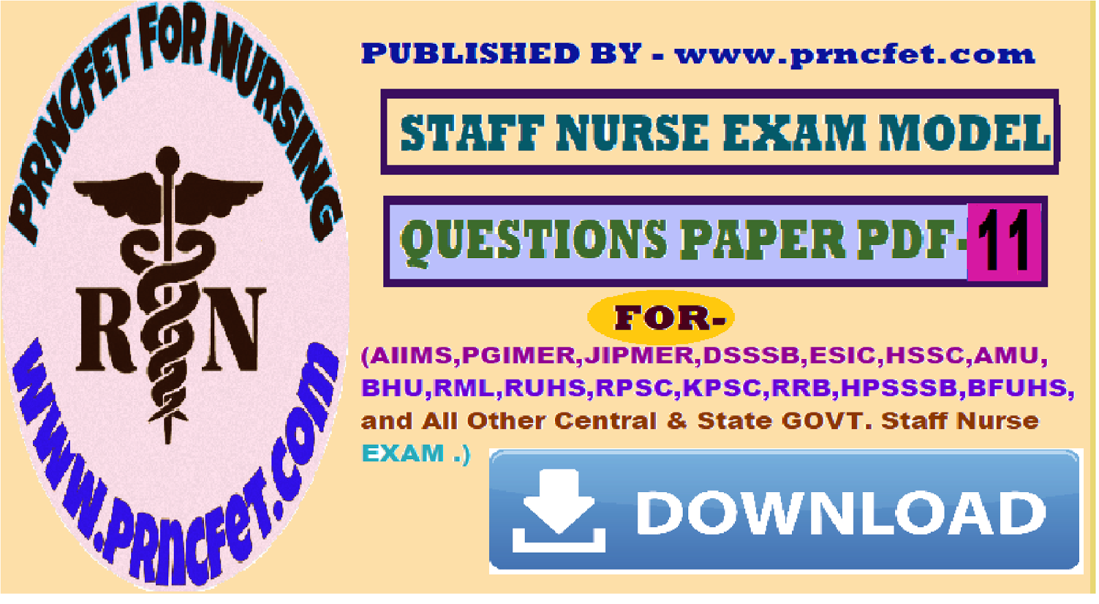 Latest Staff Nurse Recruitment Staff Nurse Papers Exam Pattern
