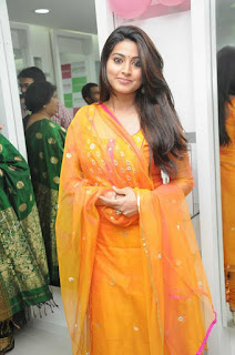 Actresses Sneha in Salwar Khameez At Green Trends 54th Salon Launch in Chennai