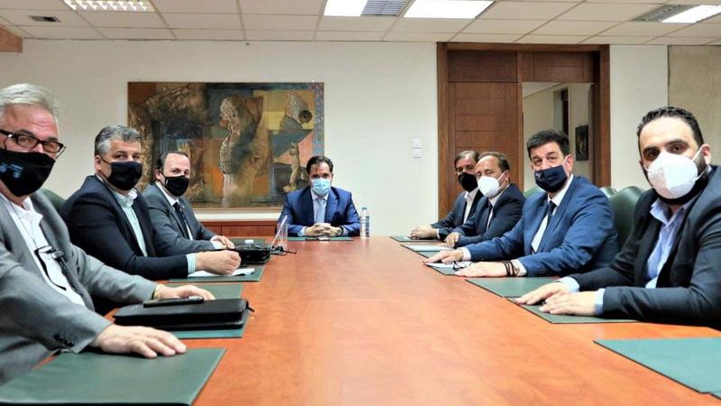 Συνάντηση των Προέδρων των Επιμελητηρίων της Αν. Μακεδονίας - Θράκης με τον Υπουργό Ανάπτυξης Άδωνι Γεωργιάδη