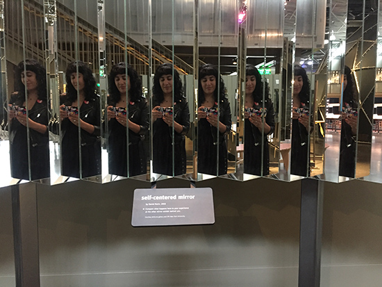 SF Exploratorium After Dark Experience Self-Centered Mirror Selfie