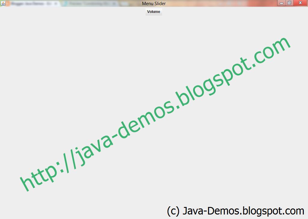 Combining JSlider with JMenu - Volume Component