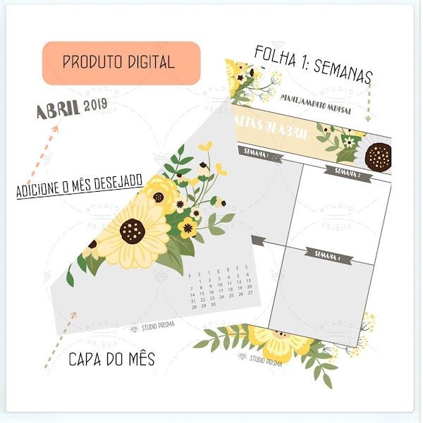 Planner para metas: Mensal e Personalizado