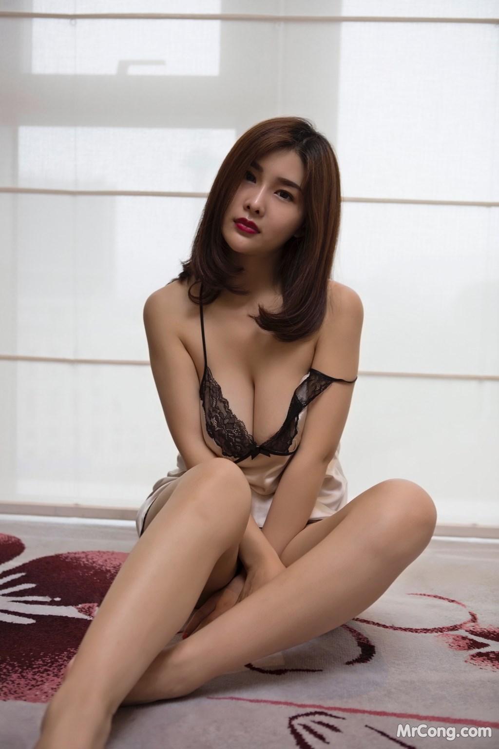 Image Yan-Pan-Pan-Part-5-MrCong.com-005 in post Ngắm người đẹp Yan Pan Pan (闫盼盼) khoe dáng sexy với váy ngủ (25 ảnh)
