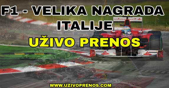 Formule 1 Velika nagrada Italije - UŽIVO PRENOS