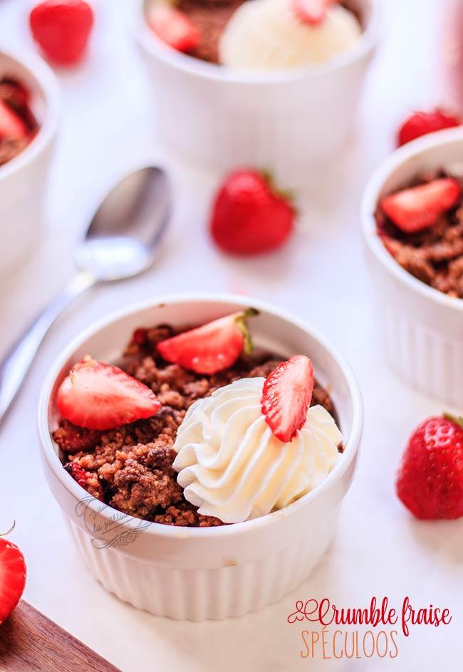 recette crumble pomme fraise