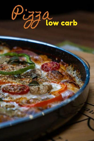 Como fazer pizza low carb