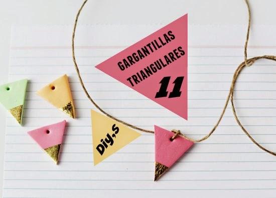gargantillas, triángulares, bisutería, diys, manualidades, tutoriales