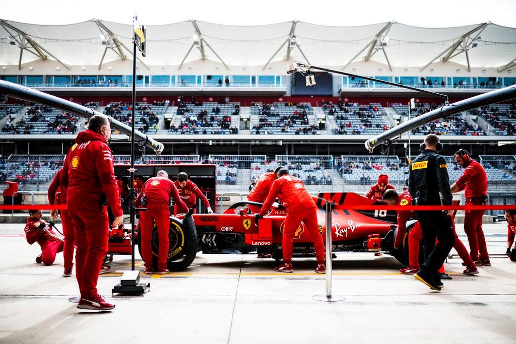 Ferrari pit stop F1