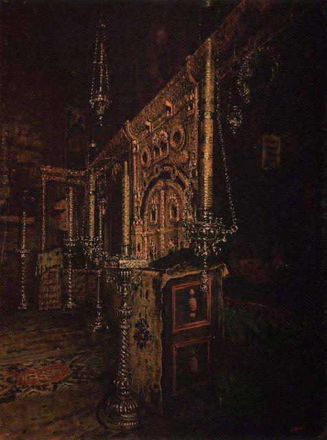 Василий Васильевич Верещагин - Иконостас церкви Иоанна Богослова на Ишне близ Ростова Ярославского. 1888