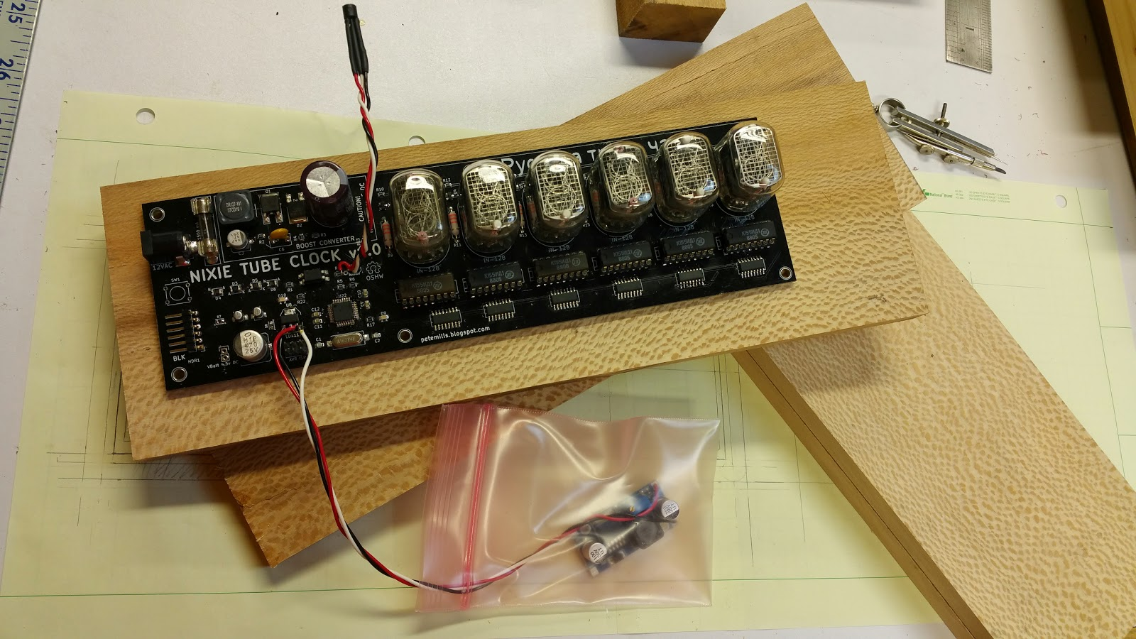 Nixie Tube Clock Schematic Of My 6 Digit Here Are Some Photos Admiring The Sycamore Grain
