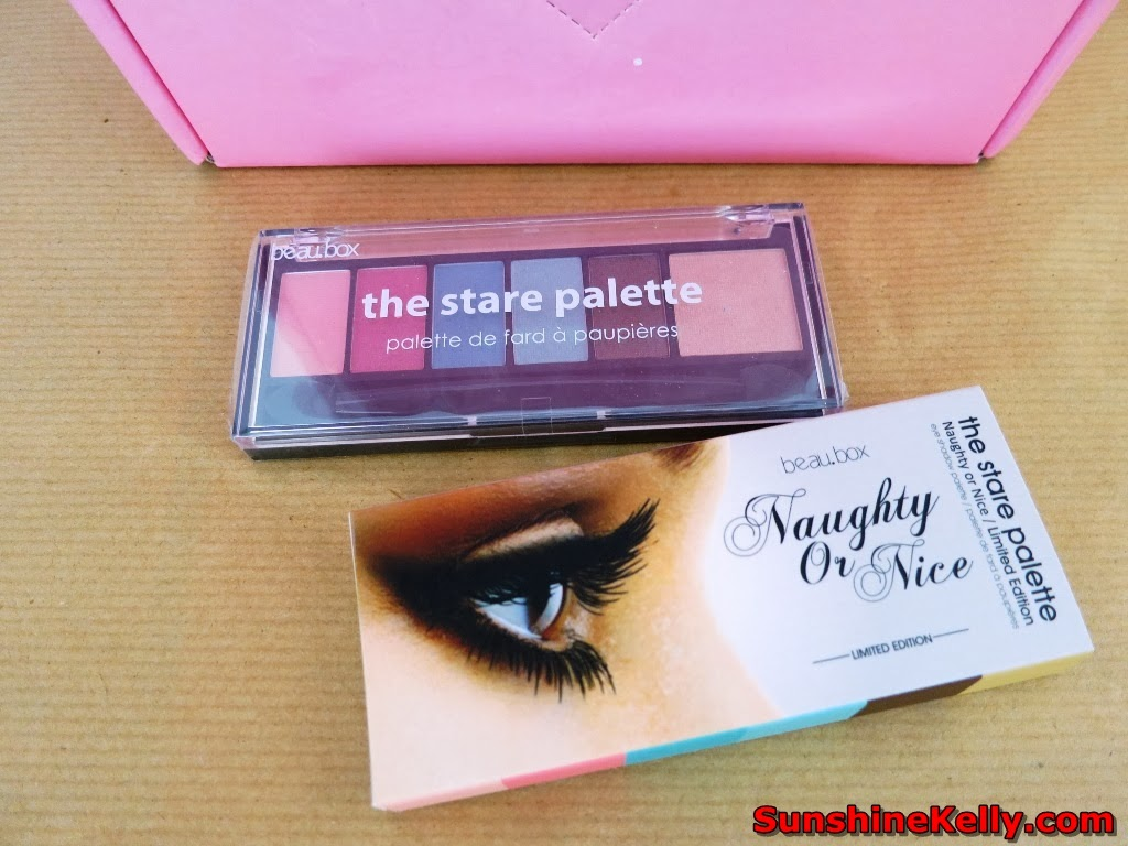 Beubox Luxe Floral Spring 2014, Limited Edition, Beauty Box, BeauBox Naughty or Nice The Stare Palette, eye shadow palette